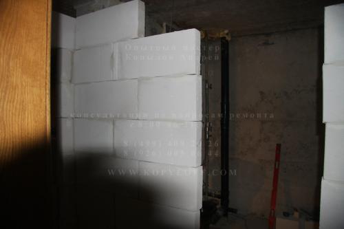 Возведение стен (шаг 1)